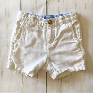 Janie and Jack White Linen Blend Shorts